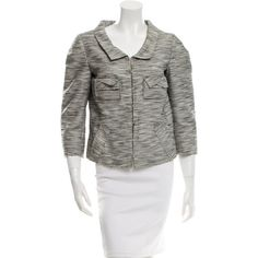 Pre-owned Roland Mouret Casual Patterned Jacket (16100 ALL) ❤ liked on Polyvore featuring outerwear, jackets, black, print jacket, roland mouret and pattern jacket