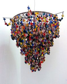 Pae White, Untitled (Chandelier), 2007. Paper, Metal & String 36 x 36 x 36 inches