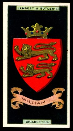 Cigarette Card - Arms of King William II