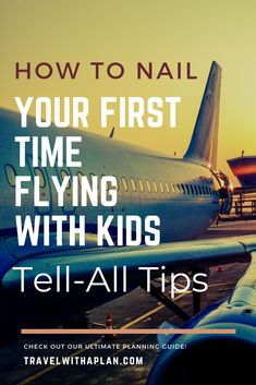 Ever wonder how people make it look so easy flying with kids? This ultimate guide to flying with kids for the first time will walk you through everything you need to know for planning, preparing, and taking your first flight with kids! Air Travel, Travel Tips, Travel Hacks, Travel Ideas, Travel Packing, Travel Essentials, Traveling With Baby, Travel With Kids, Family Travel