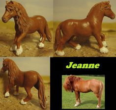 repainted schleich fell pony mare