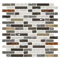 Vail Shimmer Stria with Glass Stone Mosaic Tile - 12 x 12 in. $24.99 Sq Ft      Coverage 10.00 Sq Ft per  Box