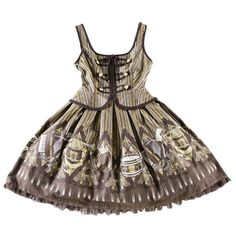 Angelic Pretty/カルテットショコラナポレオンジャンパースカート【ブラウン ❤ liked on Polyvore featuring dresses, lolita, jsk and angelic pretty