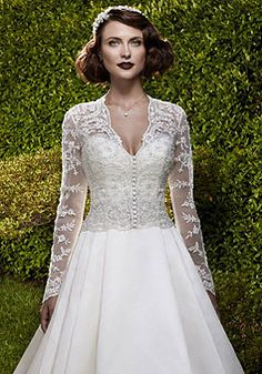 A-line Long Sleeve Chapel Train Embroidery Wedding  picture 3