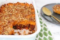 Shepherd's Pie met zoete aardappel (gehakt, uien e.a. groenten) - Chicks love food