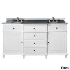 Virtu USA Caroline Estate 60inch Grey Square Double Sink