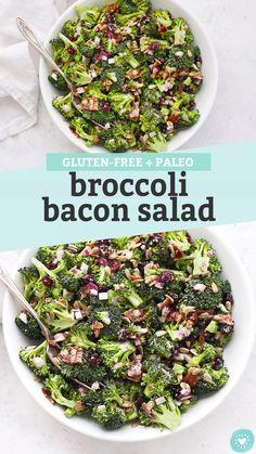 Good Healthy Recipes, Healthy Foods To Eat, Paleo Recipes, Healthy Eating, Healthy Salads, Broccoli Salad Bacon, Bacon Salad, Best Broccoli Salad Recipe, Broccoli Recipes