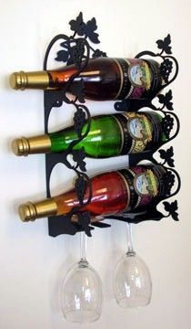 Wrought Iron Rustic Decor - Wrought Iron Wall Mount  Grapevine Wine Rack - S, $92.95 (http://www.wroughtironrusticdecor.com/products/wrought-iron-wall-mount-grapevine-wine-rack-s.html)