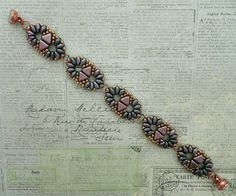 Linda's Crafty Inspirations: Bracelet of the Day: Duo Kheops - Plum & Orchid Aqua
