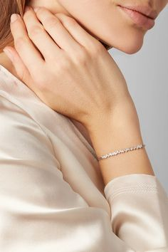 Suzanne Kalan - 18-karat White Gold Diamond Bracelet - one size