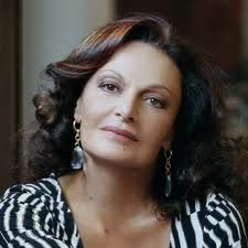 Diane von Fürstenberg, formerly Princess Diane zu Fürstenberg is a Belgian born American fashion designer best known for her iconic wrap dress.  She initially rose to prominence when she married into the German princely House of Fürstenberg, as the wife of Prince Egon of Fürstenberg. In 2005, the Council of Fashion Designers of America (CFDA) awarded her the Lifetime Achievement Award and the following year named her as their president, a position she has held since 2006.