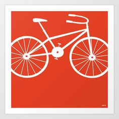 Red Bike - Art Print by friztin - $17.00
