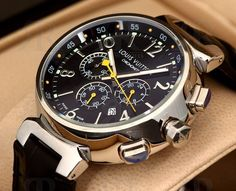 Louis Vuitton watch for Men | Louis Vuitton Tambour Chronograph http://www.thesterlingsilver.com/product/michael-kors-womens-quartz-watch-with-rose-gold-dial-analogue-display-and-rose-gold-stainless-steel-strap-mk5569/