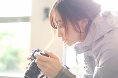 Girls With Cameras, Uzzlang Girl, Girl Poses, Ulzzang, Asian Girl, Photoshoot, Portrait, Pictures, Photography