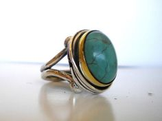 love turquoise, especially in a big ring!