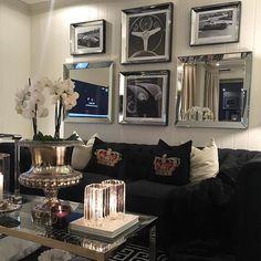 Se så flott det ble med speilrammer fra #classicliving  hos @gentianashome