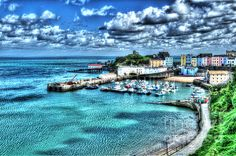 Such a gorgeous image of #Tenby #Harbour by Steve Purnell Photography #marinaart #homedecor