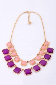 Sugar Square Rhinestone Necklace