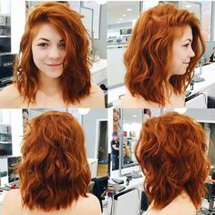Kupferhaar muss sein # Make Up Hair Styling - Haar Styling - Haarfarben Medium Hair Styles, Curly Hair Styles, Medium Length Wavy Hairstyles, Red Hair Color, Color Red, Ginger Hair Color, Red Orange Hair, Henna Hair Color, Peach Orange