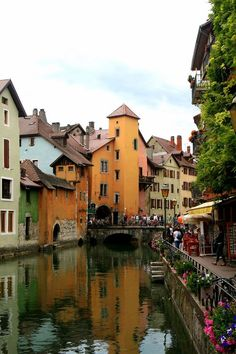 "Annecy ~ the ""Venice of the Alps"", in eastern France"