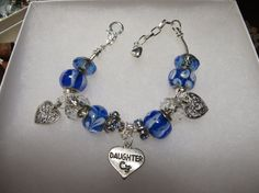 DAUGHTER CHARM BRACELET    Special Daughter by NURSESCREATIONS
