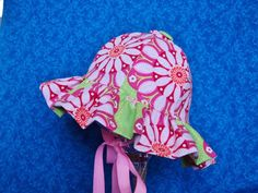 Infant Baby Sunhat Pink and Green by AdorableandCute on Etsy, $24.00