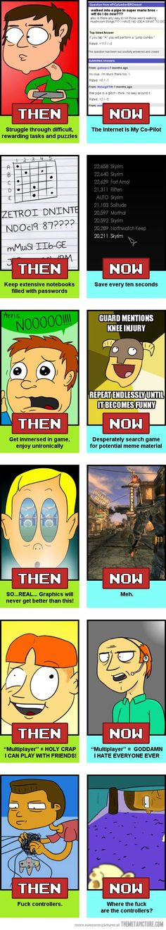 Gaming Then vs. now