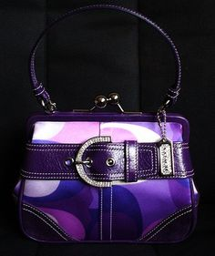 Coach purple with bling handbag , purse OMG I love this