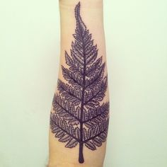 Fern tattoo by rypat, via Flickr