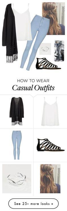 Black kimono, white tank top, light denim jeans, black sandals