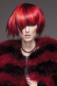 Timothy Switzer of Canada shows us a thing or two about disheveled glamour! Photog: Greg Swales #hautecoiffure #crayonred #hotonbeauty hotonbeauty.com