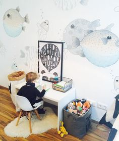 "253 mentions J'aime, 34 commentaires - 🌿Mommy Blog 🌿 (@my_petit_world) sur Instagram : ""I guess, someone likes his new room 😍🐡 #minirodini #fishes #kidsinterior #kidsdecor #kidsroom…"""