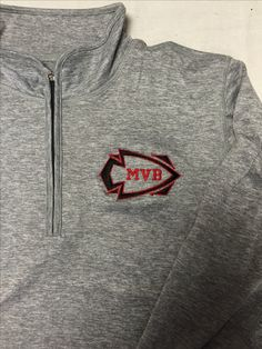 Embroidered left chest logo for space dyed pullover for masco volleyball (Fall 2016)