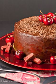 Cherry Ripe Cake   Delicieux