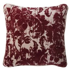 """Not quite Tiffany red, still I think the design would hold Threshold Velvet Floral Toss Pillow - Ruby Hill (20x20"""")"""
