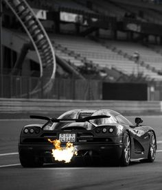 Brings new meaning to the phrase burnout.  Koenigsegg.