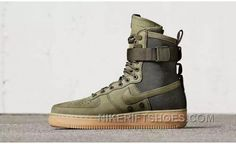 f2f3af7f5d9 Nike Air Ce 1 High Military Green Double Buckles For Sale EjTBS