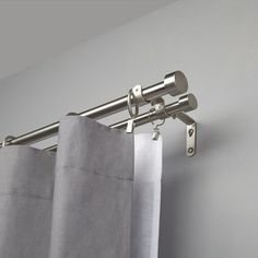 Buy Umbra Adjustable Double Curtain Pole Kit, Nickel, from our Ready Made Curtain Poles range at John Lewis & Partners. Curtains For Bifold Doors, Double Rod Curtains, Home Curtains, Tier Curtains, Rustic Curtains, Hanging Curtains, Curtains With Blinds, Blackout Curtains, Panel Curtains