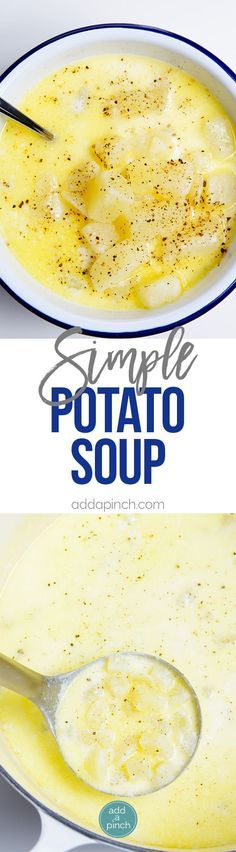 Potato Soup Recipe - My Grandmother Verdie's Potato Soup recipe makes an old-fashioned, easy, comforting soup recipe.  // addapinch.com