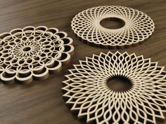 Five Ply Design Wood Coasters Spirals Series – Seattle Thread Company