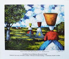 Jonathan Green Artwork | basket carriers 1997 jonathan green jonathan green diabetes research ...