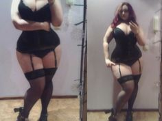 curves and stockings