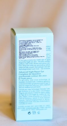 Estée Lauder Advanced Night Repair Synchronized Complex | www.akanksharedhu.com | back of carton