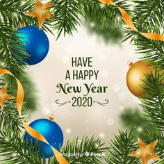 New Year Wishes Images, Happy New Year Wishes, Happy New Year 2020, Christmas Icons, Christmas Photos, Christmas Greetings, Christmas Bulbs, New Year Illustration, Christmas Illustration