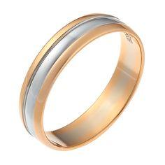 Обручальное кольцо из красного и белого золота 585 (#01-3246-00-000-1111-39)