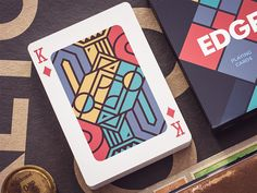 """""""Edge"""" Playing Cards (wip) Game Card Design, Board Game Design, Web Design, Grid Design, Site Design, Playing Cards Art, Playing Card Design, Contemporary Abstract Art, Funny Art"""