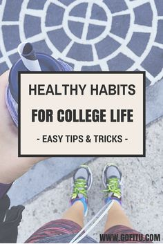The key to getting fit and staying fit in college is simple…it's all about adopting healthy habits. Check out this awesome list of healthy habits for college life. college student tips College Girls, College Life, College Fitness, Dorm Life, College Workout Plan, College Ready, College Success, College Hacks, Snacks For College