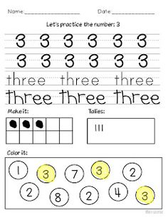 Miss Kindergarten: Teaching Numbers--perfect for struggling first graders second semester!!!