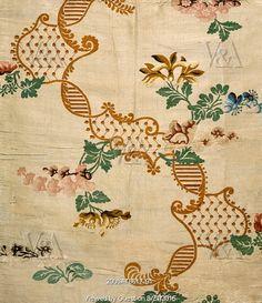 Dress fabric. Spitalfields, London, England, 1736