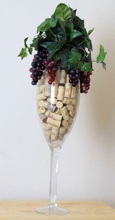 Wine Lovers Cork Conversational Piece Gift for by WeLoveWreaths, $70.00